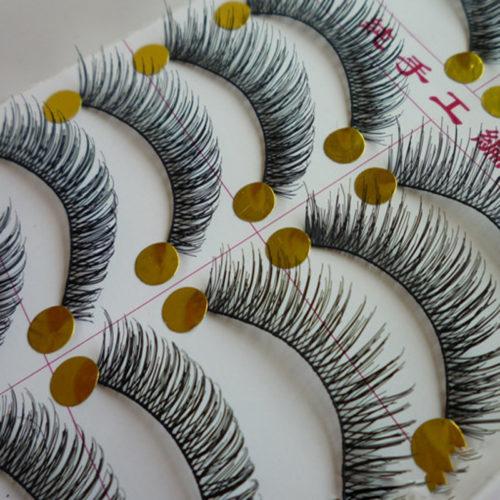 Handmade Natural False Eyelashes (10 Pairs/Box)